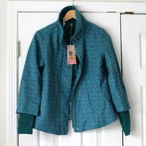 Prana Lily Jacket Deep Teal wool